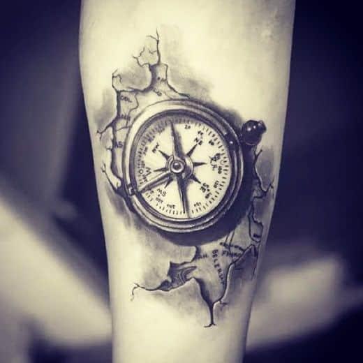 +90 Tatuajes de brújulas para hombres y mujeres Diseños y ...