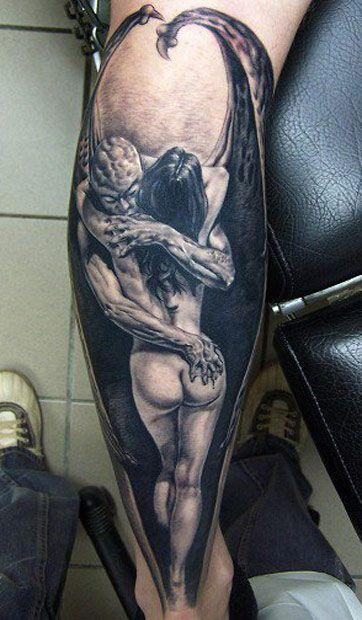 Tatuajes de demonio brazo