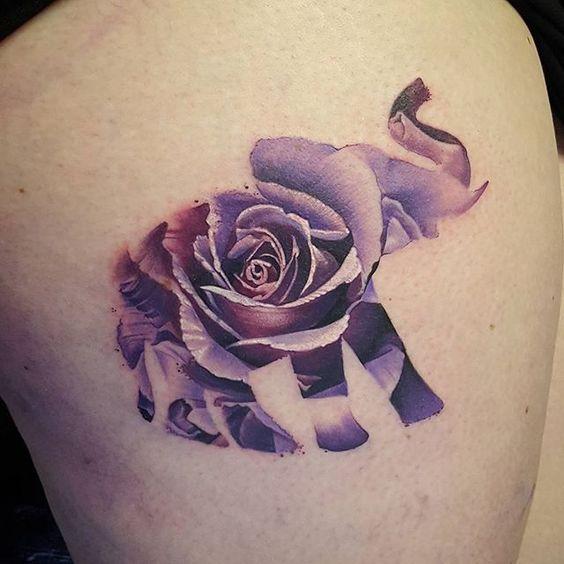 tatuajes de elefantes a color mujeres 6 - +40 Tatuajes de elefantes, significados - diseños en hombres y mujeres