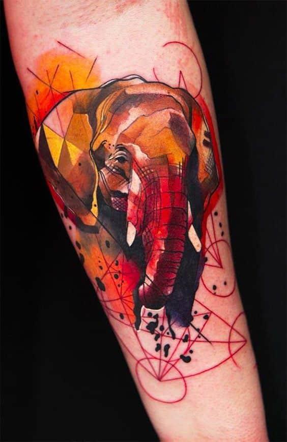 tatuajes de elefantes para hombres 4 - +40 Tatuajes de elefantes, significados - diseños en hombres y mujeres