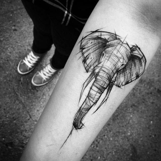 tatuajes de elefantes para hombres 5 - +40 Tatuajes de elefantes, significados - diseños en hombres y mujeres