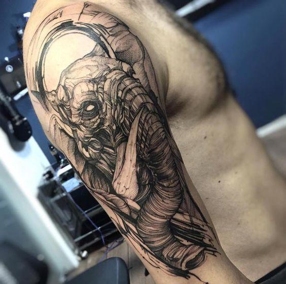 tatuajes de elefantes para hombres