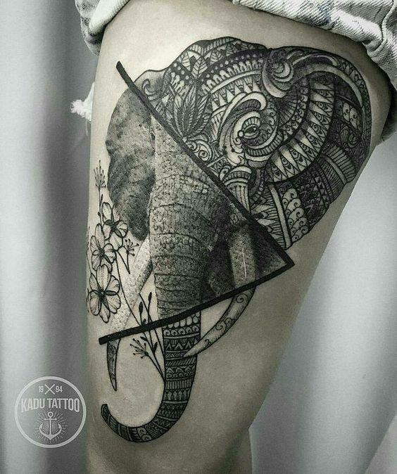 tatuajes de elefantes para mujeres 2 - +40 Tatuajes de elefantes, significados - diseños en hombres y mujeres