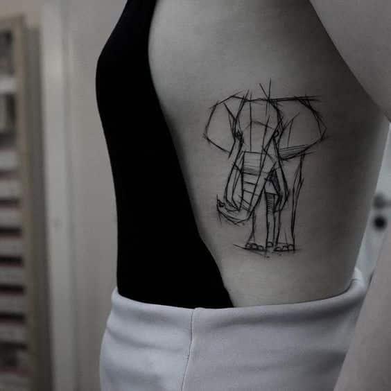 tatuajes de elefantes para mujeres 6 - +40 Tatuajes de elefantes, significados - diseños en hombres y mujeres