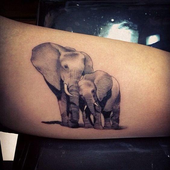 tatuajes de elefantes para mujeres 7 - +40 Tatuajes de elefantes, significados - diseños en hombres y mujeres