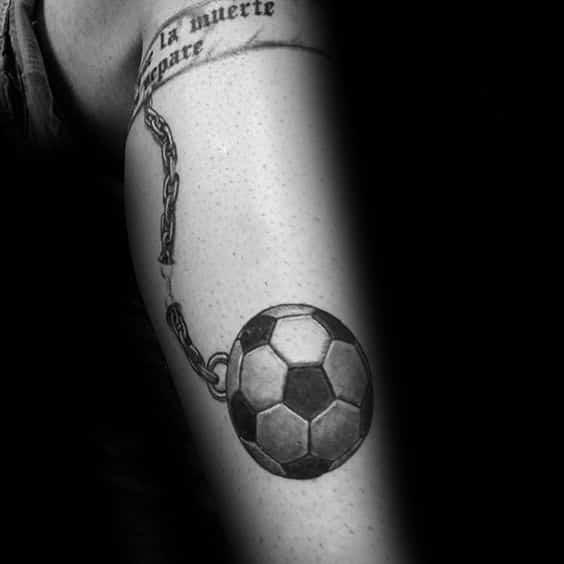 Tatuajes de fútbol pantorrilla