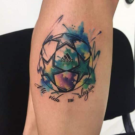 tatuajes de ftbol color - Tatuajes Frases Hombres