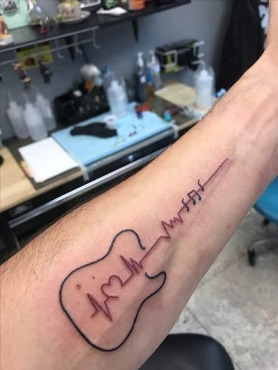 tatuajes de guitarras electricas 3 - Tatuajes de guitarras eléctricas y acústicas amor por la música en la piel