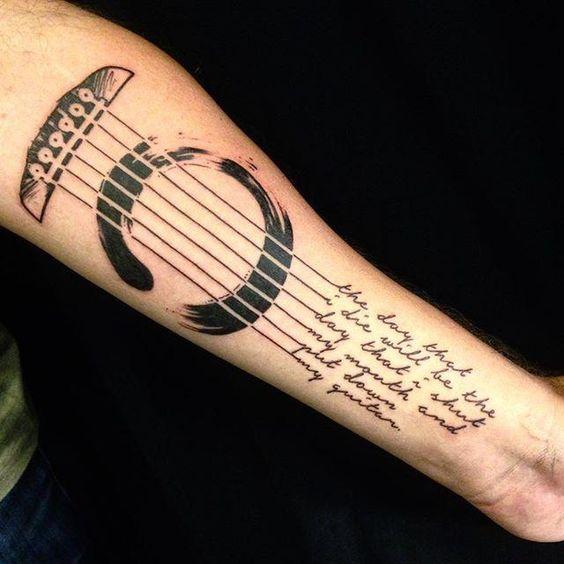 tatuajes de guitarras electricas 6 - Tatuajes de guitarras eléctricas y acústicas amor por la música en la piel