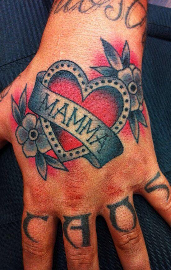 tatuajes en la mano mamá