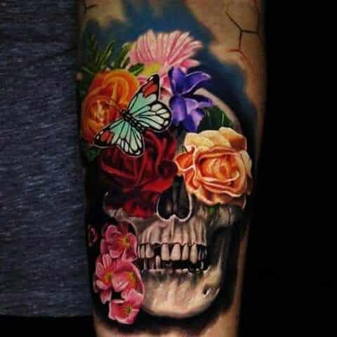 tatuajes de rosas a color hombres 2 - +80 Tatuajes para hombres ideas y diseños populares en 2018