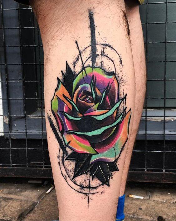 tatuajes de rosas a color hombres 3 - +80 Tatuajes para hombres ideas y diseños populares en 2018