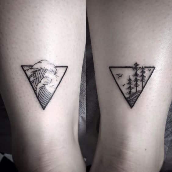 tatuajes de triangulos para hombres 3 - +40 Tatuajes de triángulos y su particular significado en cada diseño