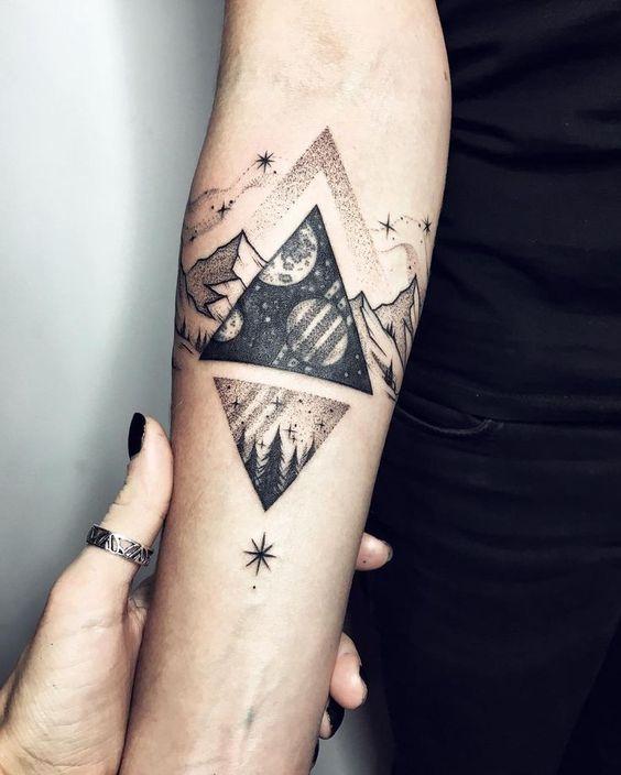 Tatuajes de Triángulos y su genial SIGNIFICADO en cada diseño Double Infinity Tattoos On Wrist