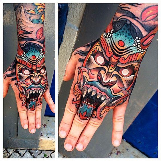 tatuajes demonios japoneses 3 - +60 tatuajes de demonios diseños impresionantes que te encantaran