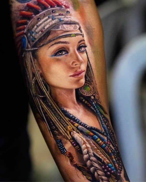 Tatuajes de hombres indio