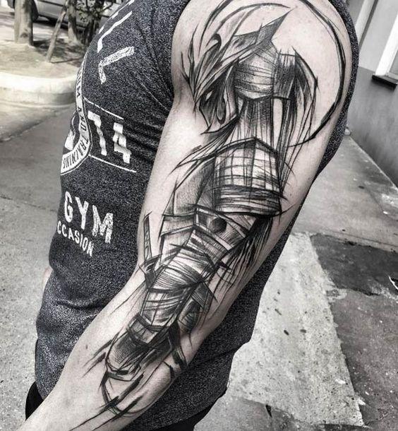Tatuajes de hombres samurai