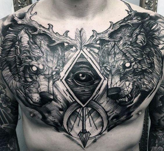 tatuajes en el pecho para hombres 2 - +80 Tatuajes para hombres ideas y diseños populares en 2018