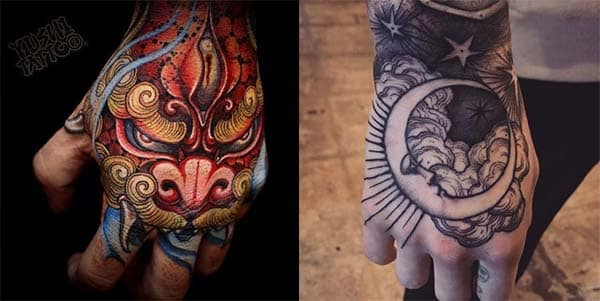 tatuajes en la mano