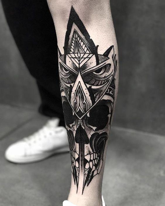 tatuajes en las pantorrillas hombres 3 - 80 Tatuajes en las piernas para hombres y mujeres, tribales, delicados...