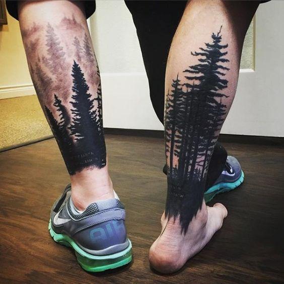 tatuajes en las pantorrillas hombres 7 - 80 Tatuajes en las piernas para hombres y mujeres, tribales, delicados...