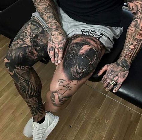 Tatuajes en las piernas para hombres