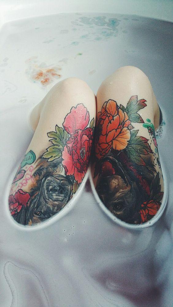 tatuajes en las piernas para mujeres