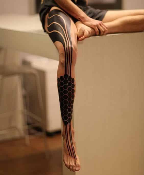 tatuajes en las piernas para hombres 4 1 - 80 Tatuajes en las piernas para hombres y mujeres, tribales, delicados...