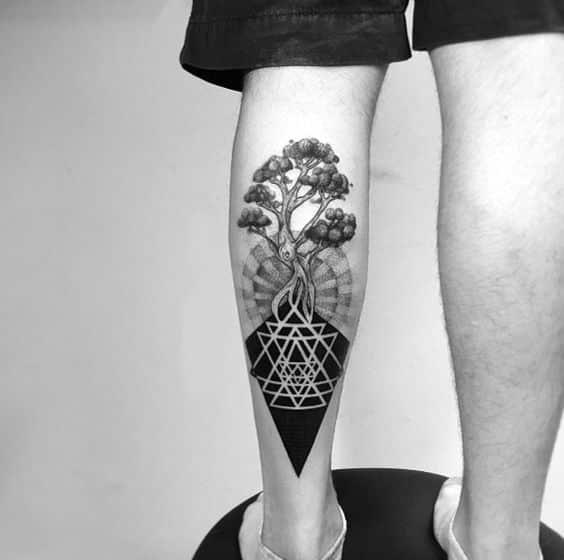 tatuajes en las piernas para hombres 7 - +80 Tatuajes para hombres ideas y diseños populares en 2018