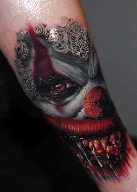 tatuajes de demonios payaso