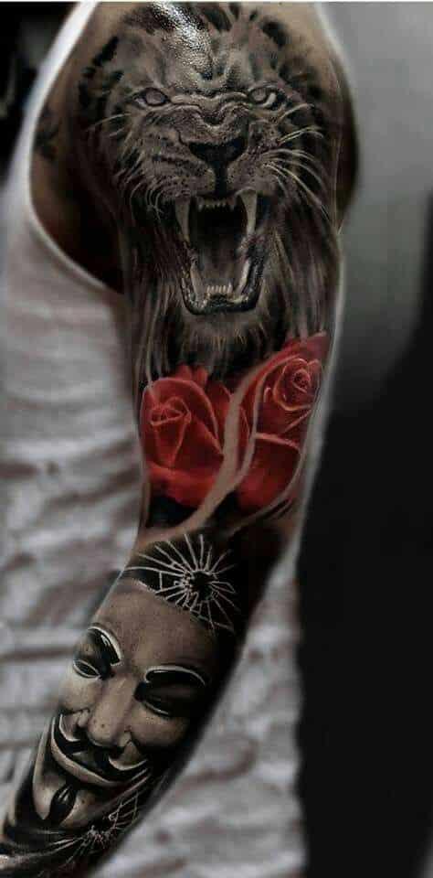 Tatuajes de hombres leon
