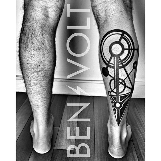 tatuajes para realizar en las piernas en hombres 2 - +80 Tatuajes para hombres ideas y diseños populares en 2018