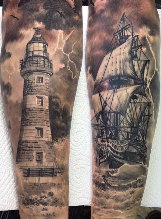 tatuajes para realizar en las piernas en hombres 7 - +80 Tatuajes para hombres ideas y diseños populares en 2018