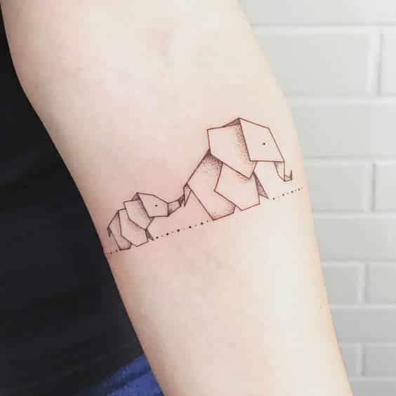 tatuajes de elefantes chicos