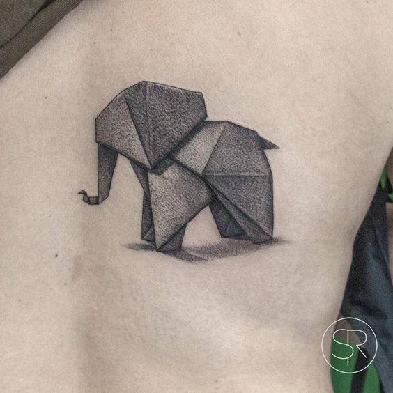 tatuajes de elefantes pequeños