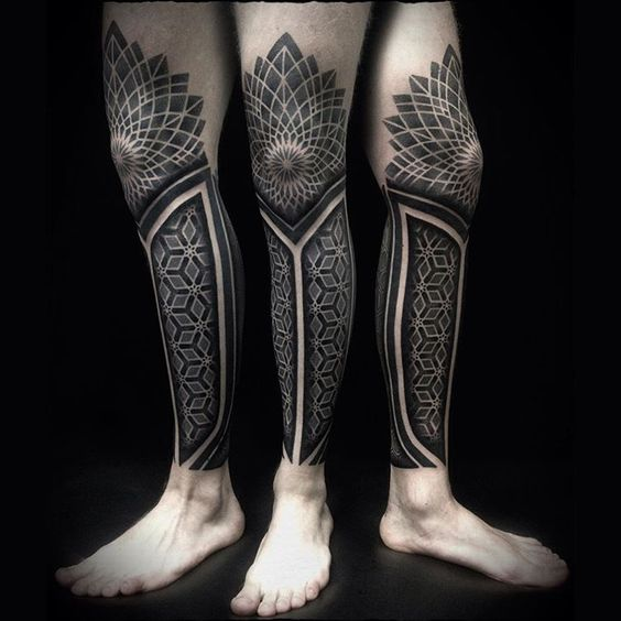 tatuajes en las piernas tribales