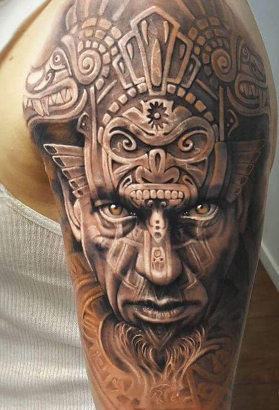 Tatuaje En El Hombro Azteca