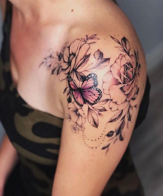 Tatuajes En El Hombro Mariposa