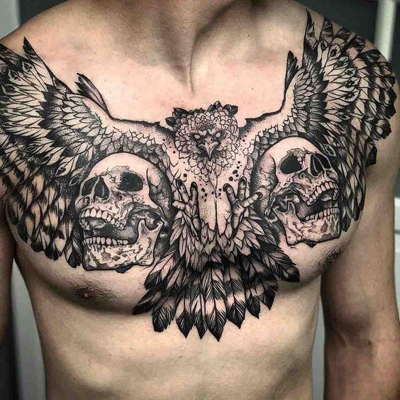 Hombre Tatuaje De Aves (2)