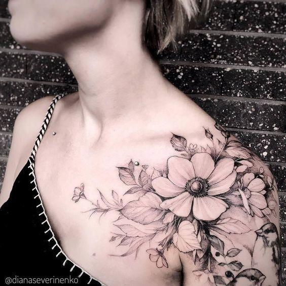 Tatuaje Para El Hombbro Mujer (4)