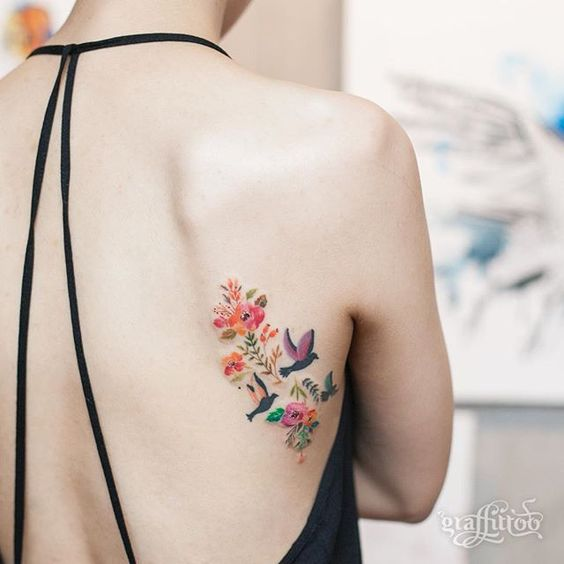 Tatuajes De Pajaros En Colores (7)