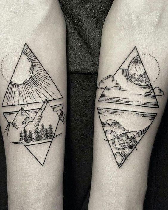 Tatuajes De Sol Y Luna Para Hombres (6)