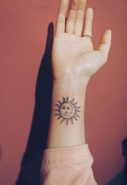 Tatuajes De Sol Y Luna Para Hombres (8)