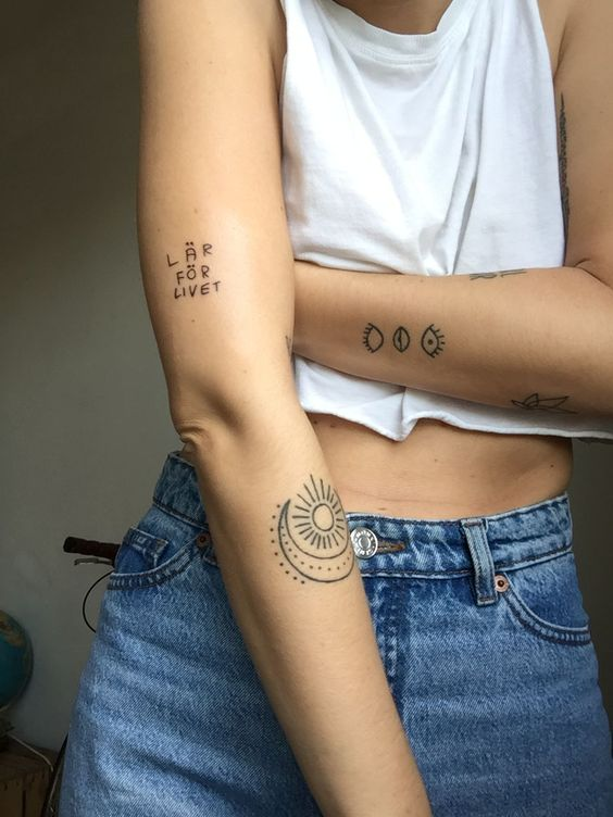 Tatuajes De Sol Y Luna Para Mujeres (2)