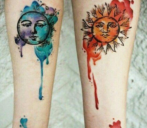 Tatuajes De Sol Y Luna Para Mujeres (6)
