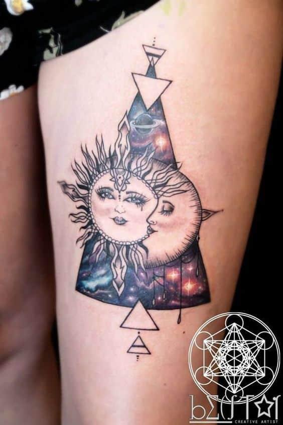 Tatuajes De Sol Y Luna Para Mujeres (7)