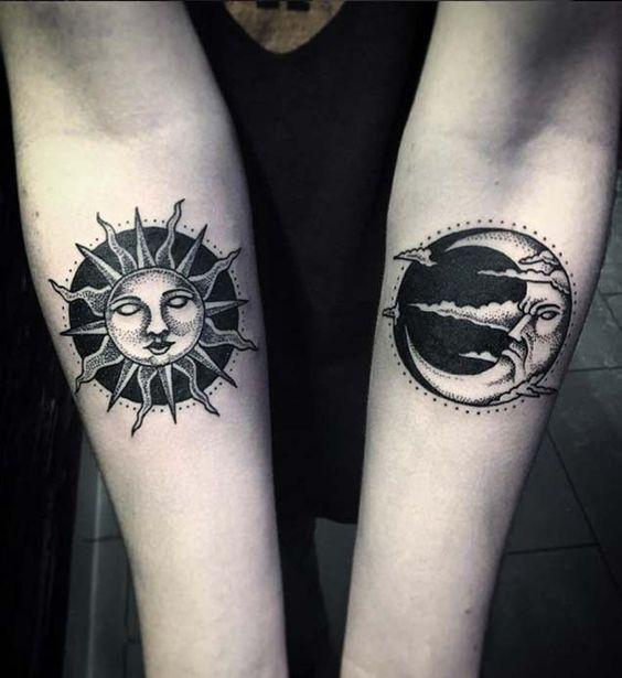 Tatuajes De Sol Y Luna Para Mujeres (8)