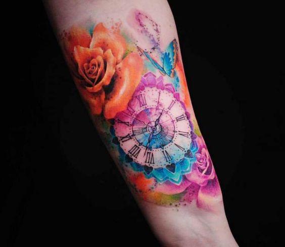 80 Tatuajes de Relojes 【Tipos de tatuajes y Significados 】