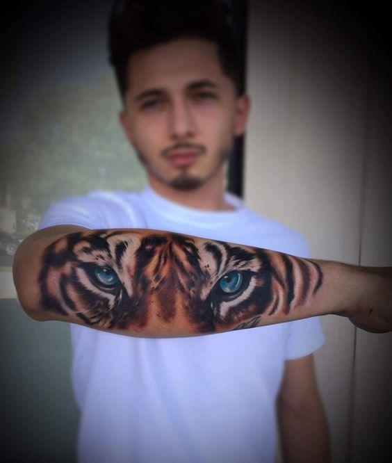 Tatuaje De Tigre Antebrazo A Color