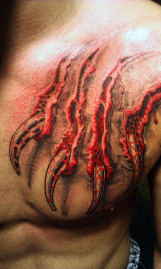 Tatuaje De Tigre Estilo 3d Garras